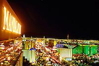 Looking north from Mandalay Bay up the Strip (Las Vegas Boulevard), Las Vegas, Nevada USA