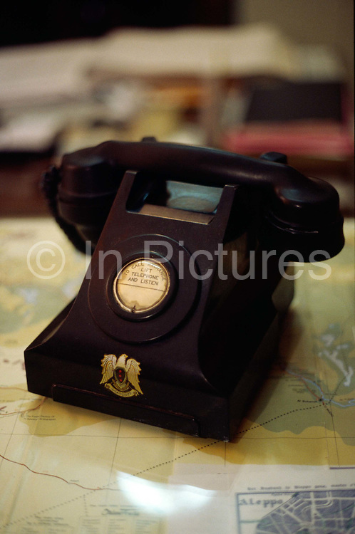 An original bakelite telephone in the lobby of the Baron Hotel in Aleppo, Syria. Built in 1911, the hotel is a relic of a more glamorous era whose past guests include, the Shah of Iran, Agatha Christie and Lawrence of Arabia (T.E Lawrence).