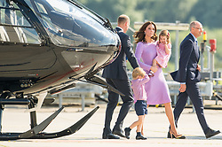 The Duke and Duchess of Cambridge with Prince George and Princess Charlotte at the Airbus factory, in Hamburg, Germany on day five of their five-day tour of Poland and Germany.
