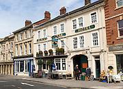 Historic Black Swan Hotel, Market Place, Devizes, Wiltshire, England