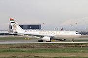 A6-EYO Etihad Airways Airbus A330-243 at Milan, Malpensa