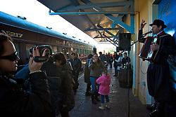 Tradicional roteiro pela estrada de ferro entre as cidades de Carlos Barbosa e Bento Gonçalves, com parada em Garibaldi, a Maria Fumaça atrai milhares de turistas interessados em apreciar a cultura italiana com shows e temáticas típicas da região. Foto: Lucas Uebel/Preview.com
