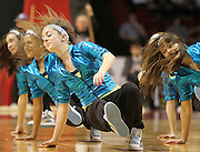 Members of the Grand Island Central Catholic dance team performs for the crow during halftime of the Central Catholic vs Norfolk Catholic game during the Heartland Hoops Classic at the Heartland Events Center in Grand Island. (Independent/Crystal LoGiudice)
