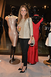 CATHERINE CADBURY at a party at Herve Leger, Lowndes Street, London on 12th November 2014 to view the latest collection.