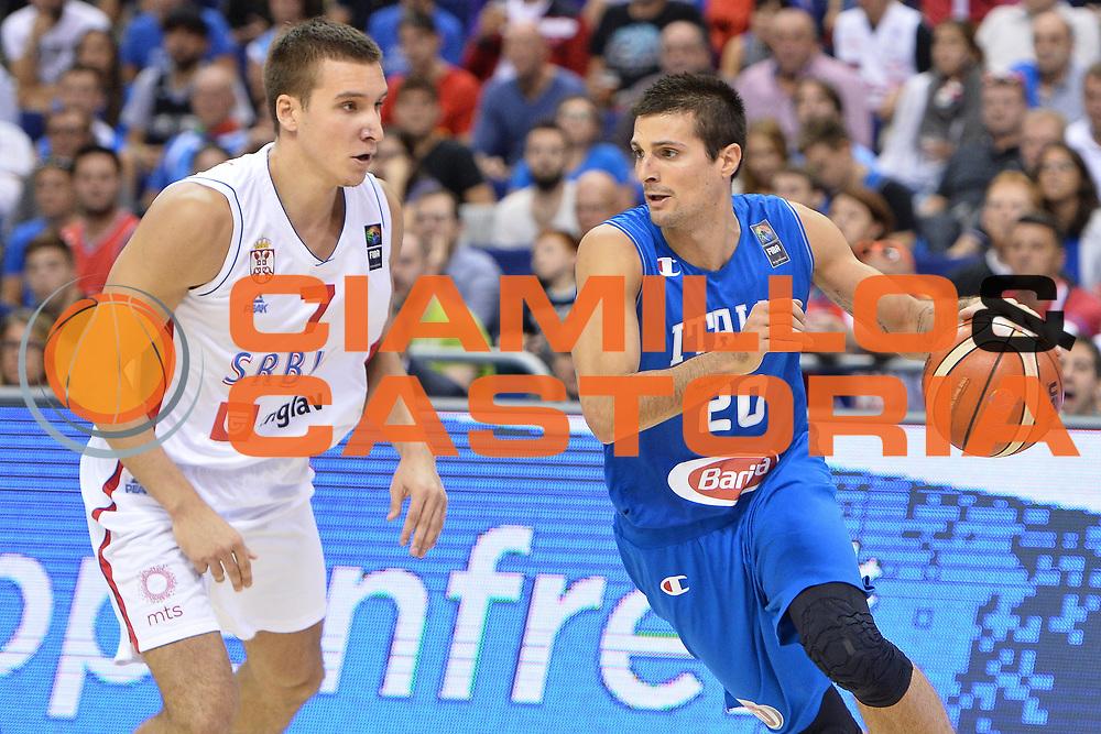 DESCRIZIONE : Berlino Berlin Eurobasket 2015 Group B Italy Serbia<br /> GIOCATORE :  Andrea Cinciarini<br /> CATEGORIA :Palleggio<br /> SQUADRA : Italy<br /> EVENTO : Eurobasket 2015 Group B <br /> GARA : Italy Serbia<br /> DATA : 10/09/2015 <br /> SPORT : Pallacanestro <br /> AUTORE : Agenzia Ciamillo-Castoria/I.Mancini <br /> Galleria : Eurobasket 2015 <br /> Fotonotizia : Berlino Berlin Eurobasket 2015 Group B Italy Serbia