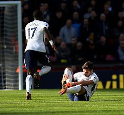 05 November 2017 Wembley : Premier League Football : Tottenham Hotspur v Crystal Palace : Harry Winks of Tottenham goes down holding his injured leg.<br /> <br /> Photo: Mark Leech.