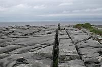 Limestone rock on Inis Oirr the Aran Islands Galway Ireland