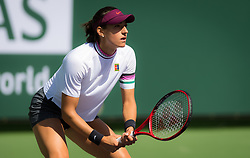 March 8, 2019 - Indian Wells, USA - Caroline Garcia of France in action during her second-round match at the 2019 BNP Paribas Open WTA Premier Mandatory tennis tournament (Credit Image: © AFP7 via ZUMA Wire)