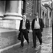 Charles Lenihan (Kerry County Council) arrives at High Court (for Kerryman).12/05/1958