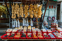 seafood market Tai O Lantau island in Hong Kong