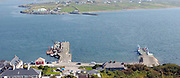Valentia Island pier in foreground and Renard Pier on far side of bay in County Kerry..Picture by Don MacMonagle