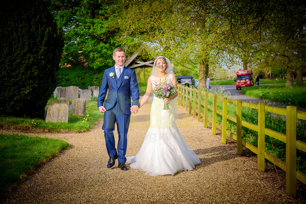 Summer Wedding Photography at St. Peter's Church in Benington, Hertfordshire.