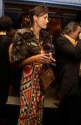Saffron Aldridge. Zac Posen Spring/ Summer collection launch party. The Blue Bar, Berkeley Hotel. London. 7 March 2004. Dafydd Jones,  ONE TIME USE ONLY - DO NOT ARCHIVE  © Copyright Photograph by Dafydd Jones 66 Stockwell Park Rd. London SW9 0DA Tel 020 7733 0108 www.dafjones.com