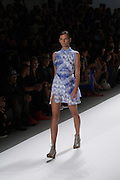 A blue dress by Richard Chai at the Spring 2013 Mercedes Benz Fashion Week show in New York.