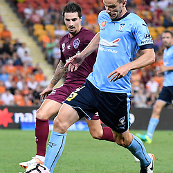 BRISBANE, AUSTRALIA - NOVEMBER 19: Alex Wilkinson of Sydney controls the ball during the round 7 Hyundai A-League match between the Brisbane Roar and Sydney FC at Suncorp Stadium on November 19, 2016 in Brisbane, Australia. (Photo by Patrick Kearney/Brisbane Roar)