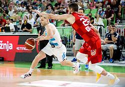 Jaka Blazic of Slovenia during friendly basketball match between National teams of Slovenia and Croatia, on June 18, 2021 in Arena Stozice, Ljubljana, Slovenia. Photo by Vid Ponikvar / Sportida