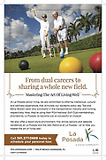 Tear Sheet Image featuring an image of a couple playing Croquet in West Palm Beach. This ad was for the La Posada Community in Palm Beach Gardens Florida