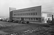 25/01/1963<br /> 01/25/1963<br /> 25 January 1963<br /> Cassidys (Engineering) Ltd., Naas Road, Dublin.  View of the exterior of the works with staff cars outside.