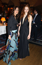Left to right, MARY FELLOWES and LILY COLE at a private dinner and presentation of Issa's Autumn-Winter 2005-2006 collection held at Annabel's, 44 Berkeley Square, London on 15th March 2005.<br /><br />NON EXCLUSIVE - WORLD RIGHTS