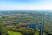 Nederland, Noord-Brabant, Gemeente Deurne, 23-08-2016; Deurnsche Peel, tussen Helenaveen en Griendtsveen, Kanaal van Deurne.<br /> Region of the Peel, former peat bog.<br /> aerial photo (additional fee required); <br /> luchtfoto (toeslag op standard tarieven);<br /> copyright foto/photo Siebe Swart