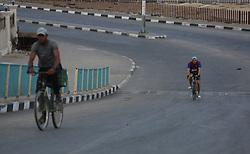 September 23, 2017 - Gaza, gaza strip, Palestine - Palestinian youth participate in Palestine Triathlon Championship (Swimming, Cycling, Running) inside Gaza City Port on Sept. 23, 2017. (Credit Image: © Majdi Fathi/NurPhoto via ZUMA Press)