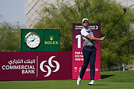 Alexander Bjork (SWE) on the 18th during Round 1 of the Commercial Bank Qatar Masters 2020 at the Education City Golf Club, Doha, Qatar . 05/03/2020<br /> Picture: Golffile   Thos Caffrey<br /> <br /> <br /> All photo usage must carry mandatory copyright credit (© Golffile   Thos Caffrey)