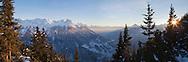 Italy, Valtellina,Chiesa Valmalenco: Panorama sulle alpi dal rifugio Motta.