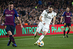 February 6, 2019 - Barcelona, Spain - Clement Lenglet and Karim Benzema during the match between FC Barcelona and Real Madrid corresponding to the first leg of the 1/2 final of the spanish cup, played at the Camp Nou Stadium, on 06th February 2019, in Barcelona, Spain. (Credit Image: © Joan Valls/NurPhoto via ZUMA Press)