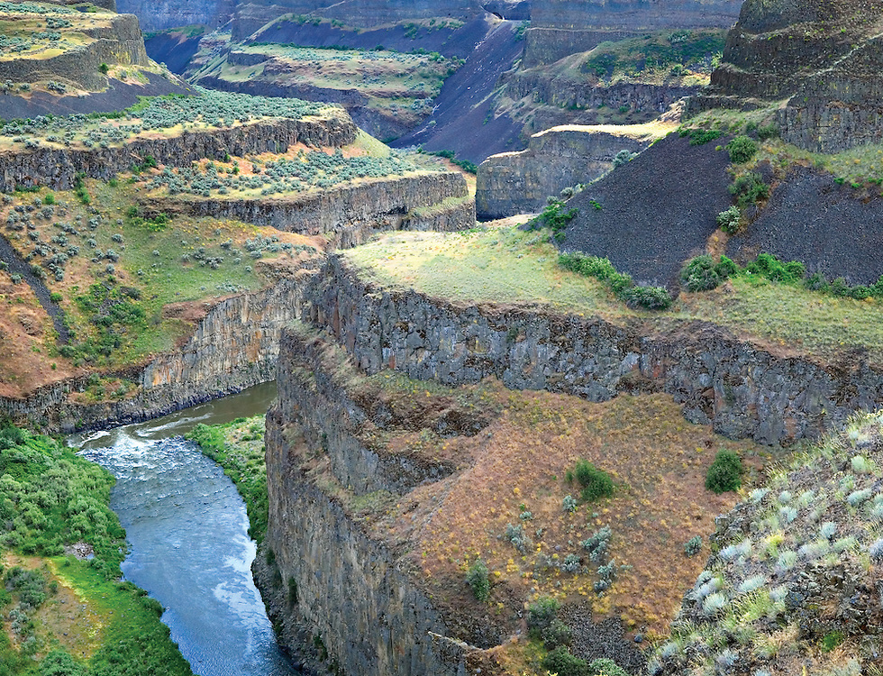Abstract Portrait of the Snake River Canyon, Washington State