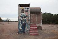 Un murale raffigurante Zapata realizzato in occasione del congresso nazionale indigeno, Vicam, Sonora, Messico