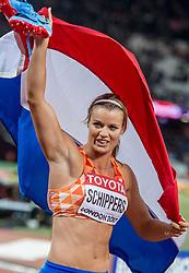 11-08-2017 IAAF World Championships Athletics day 8, London<br /> Dafne Schippers loopt 22,05 en pakt het goud op het 200 meter