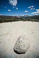 Yosemite national park, California - Granite boulder on top Pothole Dome, Tuolumne meadows