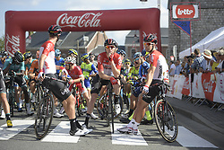 September 12, 2018 - Namur, Belgium - Lotto Soudal riders pictured ahead of the 59th edition of the one day cycling race Grand Prix de Wallonie (205,9km) from Blegny to the Citadelle de Namur, in Namur. (Credit Image: © Yorick Jansens/Belga via ZUMA Press)
