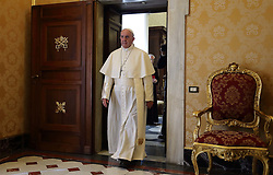 May 6, 2017 - Vatican City State (Holy See) - POPE FRANCIS meets President of Switzerland DORIS LEUTHARD at the Vatican  (Credit Image: © Evandro Inetti via ZUMA Wire)
