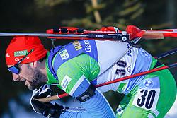 Jakov Fak of Slovenia during the IBU World Championships Biathlon 20km Individual Men competition on February 17, 2021 in Pokljuka, Slovenia. Photo by Primoz Lovric / Sportida
