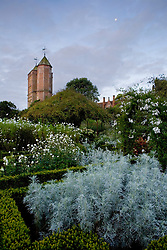 View of the Tower from the White Garden at Sissinghurst Castle