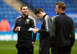 """Burnley's Sam Vokes (left) James Tarkowski inspect the pitch before the Premier League match at the King Power Stadium, Leicester. PRESS ASSOCIATION Photo Picture date: Saturday December 2, 2017. See PA story SOCCER Leicester. Photo credit should read: Mike Egerton/PA Wire. RESTRICTIONS: EDITORIAL USE ONLY No use with unauthorised audio, video, data, fixture lists, club/league logos or """"live"""" services. Online in-match use limited to 75 images, no video emulation. No use in betting, games or single club/league/player publications."""