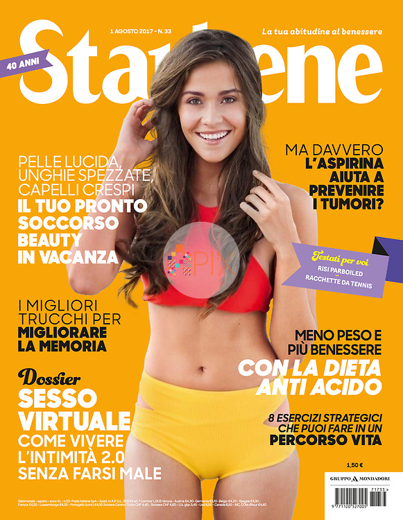 Our vibrant and healthy summer cover for the August issue of STARBENE magazine in Italy.<br /> <br /> Image from our shoot of Brazilian beauty Karol Vasconcelos, available for worldwide use with approval: http://www.apixsyndication.com/gallery/Karol-Vasconcelos/G0000yyvLKphLmAY/C00008f1udfINPWA