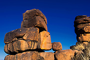 Rock formations<br /> Private game ranch<br /> Great Karoo<br /> SOUTH AFRICA