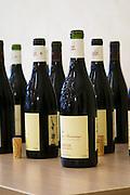 bottle with moulded relief on the neck domaine de longue toque gigondas rhone france