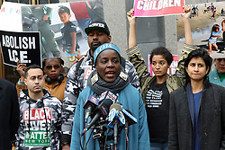December 17, 2018 - New York City, New York, US - Protester THERESE PATRICIA OKOUMOU, 44, who was charged with trespassing, disorderly conduct and interfering with government functions after partially climbing the Statue of Liberty monument on July 4, 2018, was found guilty on all charges in the U.S. Federal Court in lower Manhattan on 17 December 2018. The Congolese-born US naturalized-citizen, will be sentenced on 5 March 2019 and  faces up to 6 months of jail on each of three different charges. (Credit Image: © G. Ronald Lopez/ZUMA Wire)