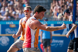 25-08-2019 NED: DELA NK Beach Volleyball, Scheveningen<br /> Last day NK Beachvolleyball / Stefan Boermans #2, Dirk Boehlé #1