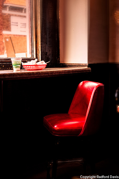 A window seat at a diner