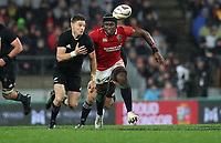 Rugby Union - 2017 British & Irish Lions Tour of New Zealand - Second Test: New Zealand vs. British & Irish Lions<br /> <br /> Maro Itoje of The British and Irish Lions and Beauden Barrett of The All Blacks  at Westpac Stadium, Wellington.<br /> <br /> COLORSPORT/LYNNE CAMERON