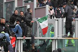 February 18, 2018 - Turin, Piedmont, Italy - Clashes between the ultras of Torino and Juventus after the Serie A football match between Torino FC and Juventus FC at Olympic Grande Torino Stadium  on 18 February, 2018 in Turin, Italy. Juventus won 0-1 over Torino. (Credit Image: © Massimiliano Ferraro/NurPhoto via ZUMA Press)