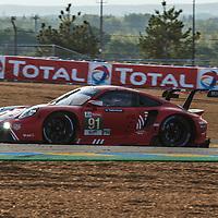 #91, Porsche 911 RSR (2019), Porsche GT Team, drivers: Gianmaria Bruni, Richard Lietz, Frederic Makowiecki, LM GTE Pro, at the Le Mans 24H, 2020, 20 September 2020