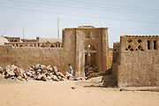 Ruins of the deserted place of Nag' Bleida, an old nubian village in Gharb Aswan