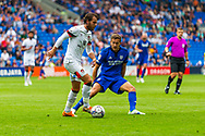 Bournemouth midfielder Ben Pearson (22) under pressure from Cardiff City defender Joel Bagan  (3) during the EFL Sky Bet Championship match between Cardiff City and Bournemouth at the Cardiff City Stadium, Cardiff, Wales on 18 September 2021.