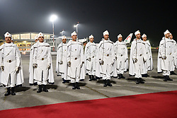 February 24, 2019 - Casablanca, Morocco - Image licensed to i-Images Picture Agency. 23/02/2019. Casablanca, Morocco. Guard of honour for Prince Harry and Meghan Markle, The Duke and Duchess of Sussex, arriving at Casablanca airport at the start of their Royal Tour to Morocco. (Credit Image: © Pool/i-Images via ZUMA Press)