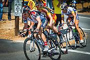 Professional cyclists at the Amgen Tour of California, Ojai, California USA